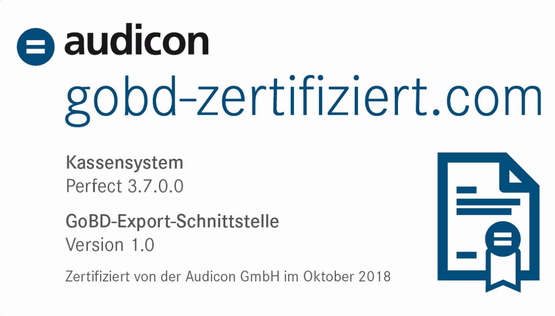 Audicon Zertifikat
